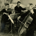 Edvard Röntgen (right) in het Rontgen Trio