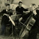 Edvard Röntgen (rechts) in het Rontgen Trio