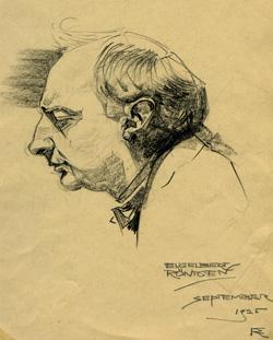 Engelbert Röntgen, tekening van Frants Röntgen