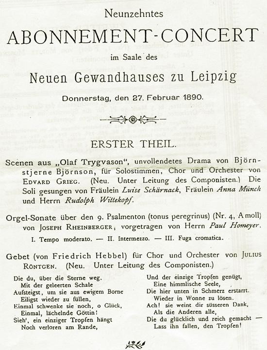 Abonnement - concert, Leipzig 1890