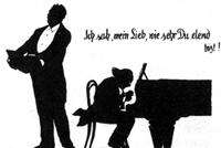 Johannes Messchaert and Julius Röntgen. Dr. Otto Böhler Schattenbilder.