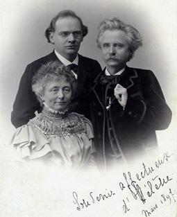 Röntgen with Edvard and Nina Grieg, Amsterdam 1897