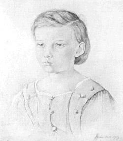 Julius Röntgen op driejarige leeftijd