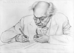 Julius Röntgen, drawing by Jan Boon, 1931.