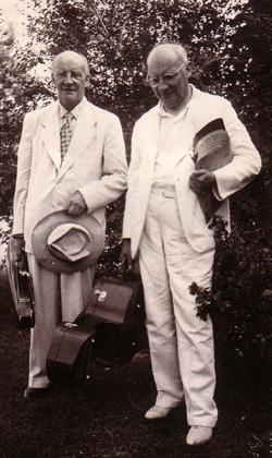 Julius jr. en Engelbert Röntgen Woodstock (USA), 1947